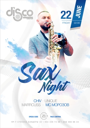 FRI, 22.06.2018 Sax Night